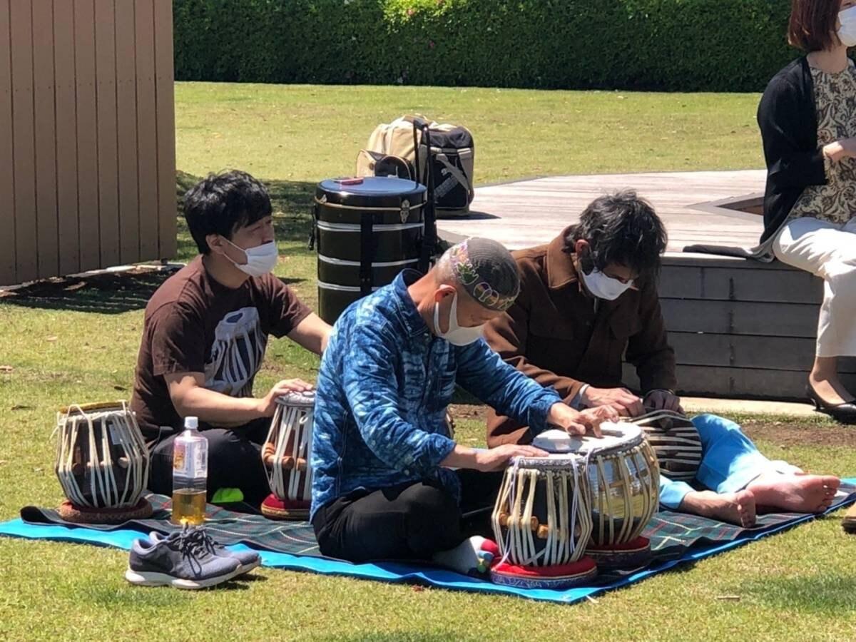 練習中の HEAT bEAT MUSIC bEAT MUSIC タブラ部メンバー