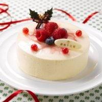 【定期便】カフェプレアデスから毎年人気のクリスマスケーキ★ベリーのホワイトチョコケーキ