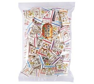 ※夏季期間チョコとの同梱不可※【幸せ】を運んでくれる♪【縁起物】小判型のあられが美味しい♪まねきねこあられ300g