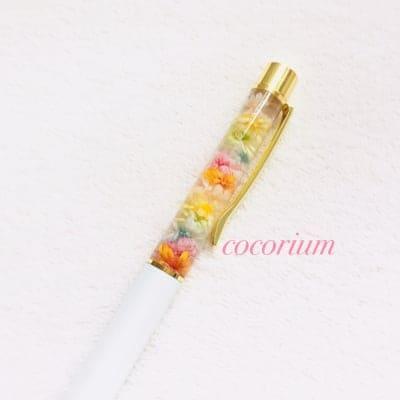 ハーバリウムボールペン ブライダルホワイト