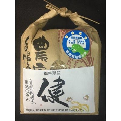 【今期終了】自然栽培米(無農薬・無肥料)・ササニシキ・玄米 5kg 福井県産