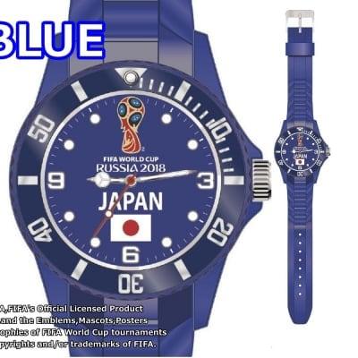 【数量限定品!】FIFA公認 ワールドカップ ロシア 日本代表カラー 腕時計 ブルー