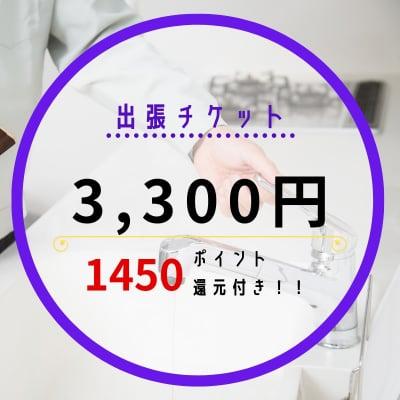 水まわりのトラブル緊急出張チケット≪現金払い専用・1,458ポイント還元!付き≫