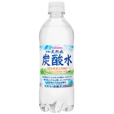 500ml 居村仙紅のお風呂指導限定 サンガリア強炭酸水 1ケース1440円