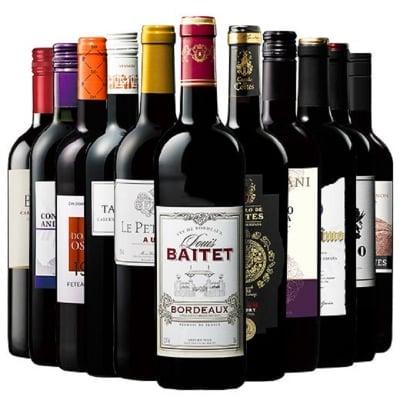 金賞 飲み比べ ワイン ワインセット wine wainn ボルドー フランス イタリア スペイン お買い得 ギフト 10月中旬より順次お届け