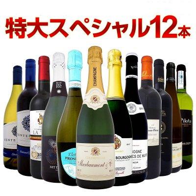 本格シャンパン&ブルゴーニュ入り!特大スペシャル12本セット!