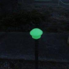 【なんと、光をため込むんです。】『自分で光る』蓄光単管キャップ D19-D25 50個 今だけ送料無料
