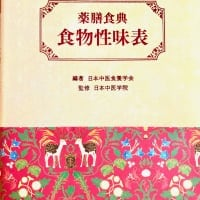 薬膳食典 食物性味表 (編著 日本中医食用学会)