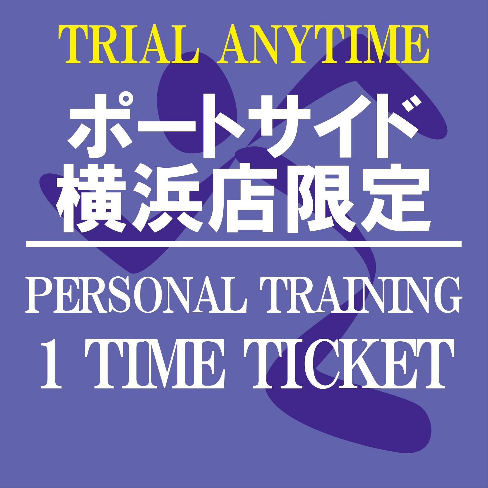 パーソナルトレーニング60分1回チケット〜ANYTIME TRIAL〜[エニタイムフィットネスポートサイド横浜店限定]のイメージその1