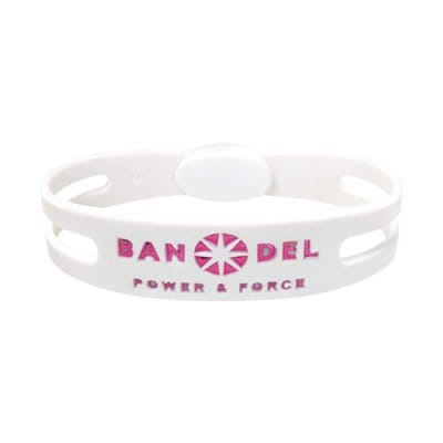 BANDEL ブレスレット(ホワイト×ピンク)Mサイズ