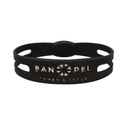 BANDEL ブレスレット(ブラック×ゴールド)Mサイズ