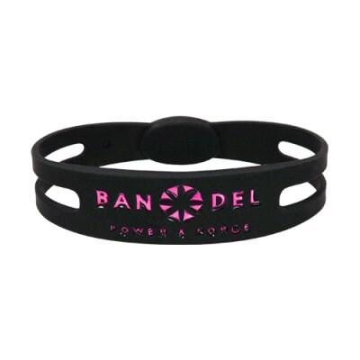 BANDEL ブレスレット(ブラック×ピンク)Sサイズ