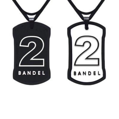 BANDEL ナンバー ネックレス(ブラック×ホワイト)NO.2 50cm
