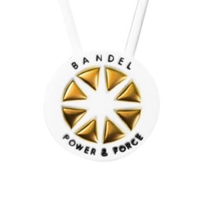 BANDEL メタル ネックレス(ホワイト×ゴールド) 45cm