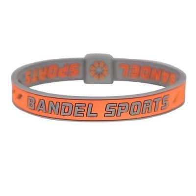 BANDEL スポーツストリング ブレスレット(オレンジ×グレー)Mサイズ