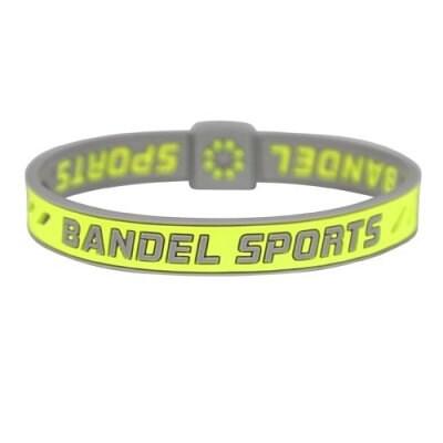 BANDEL スポーツストリング ブレスレット(イエロー×グレー)Sサイズ