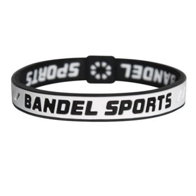 BANDEL スポーツストリング ブレスレット(ホワイト×ブラック)Sサイズ