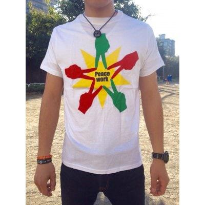 Peace Work Tシャツ☆サイズL☆【★店頭受取可★送料500円★】