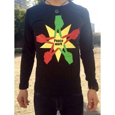 Peace Work Tシャツ☆黒☆【長袖】【店頭受取★送料無料★】