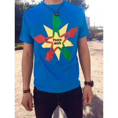 Peace Work Tシャツ☆ブルー☆【店頭受取★送料無料★】