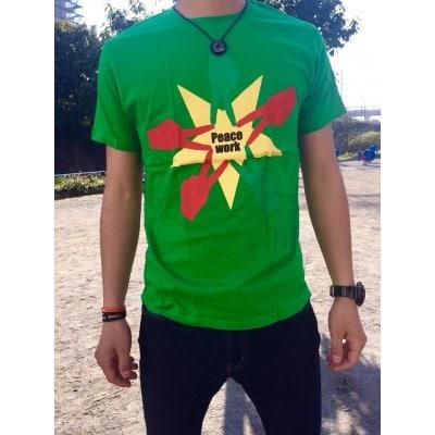 Peace Work Tシャツ☆グリーン☆【店頭受取★送料無料★】