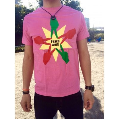 Peace Work Tシャツ☆ピンク☆【店頭受取★送料無料★】