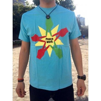 Peace Work Tシャツ☆水色☆【店頭受取★送料無料★】