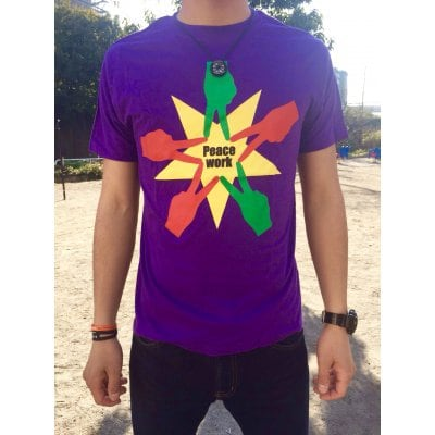 Peace Work Tシャツ☆パープル☆【店頭受取★送料無料★】
