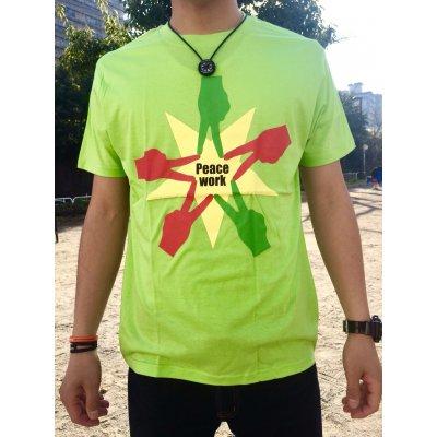 Peace Work Tシャツ☆黄緑☆【店頭受取★送料無料★】