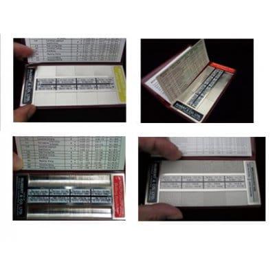RUBERT マイクロサーフシリーズ:KB-319 携行用各種加工表面&粗さ比較見本セット(軽量タイプ)/表面旋削