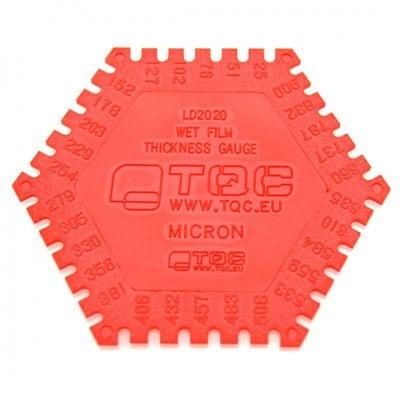 TQC 樹脂製記録保存用くし形ウェットフィルム膜厚計[1箱500枚入] KT-LD2020