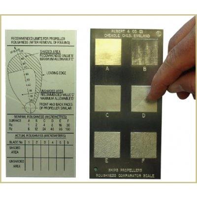 RUBERT 船舶スクリュー粗さ比較板(水中用) KB-016