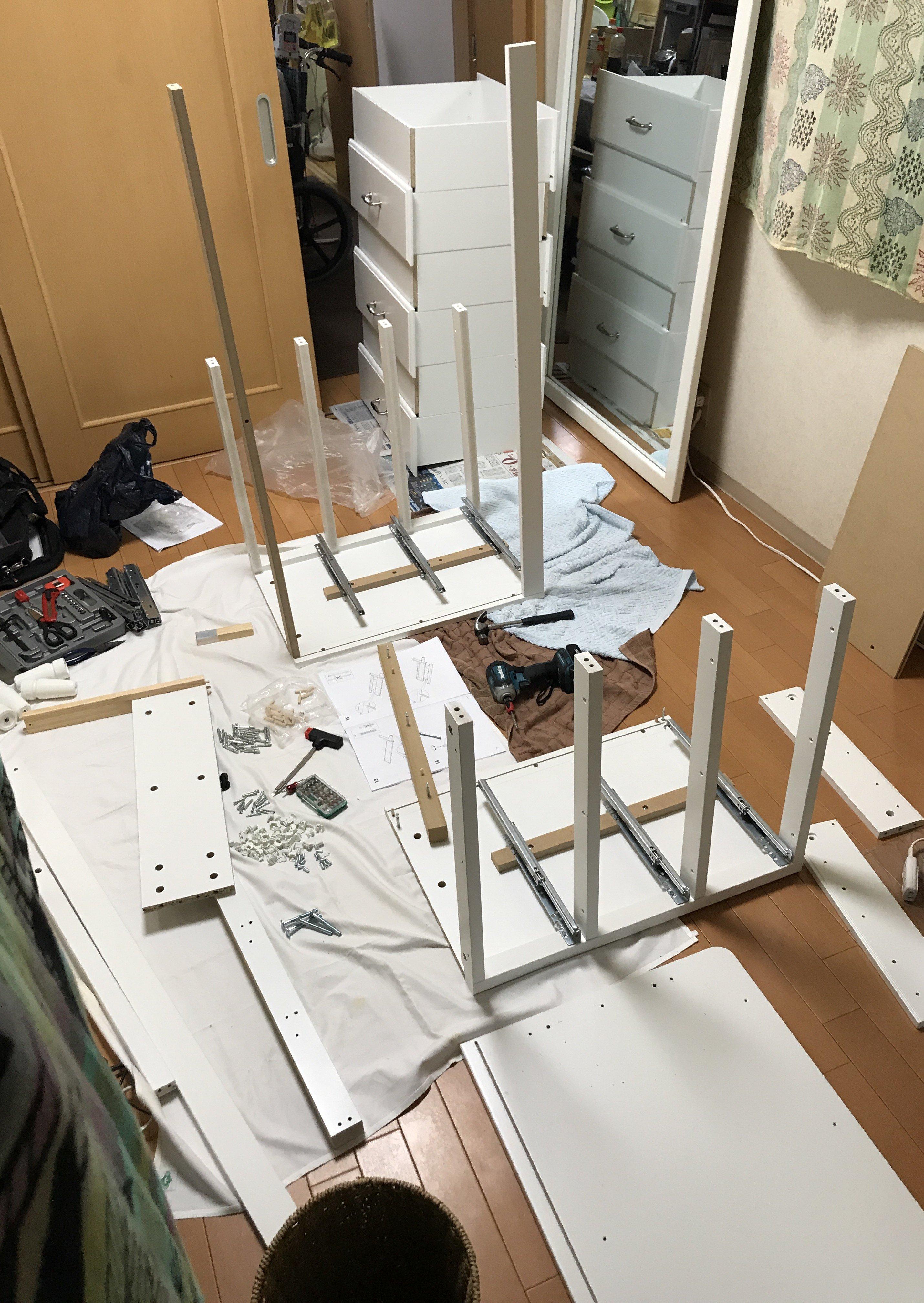 家具組み立てサービス 3辺合計 401~500センチ または 複数 1時間以内(通販家具:IKEA、ニッセン、ニトリ、ディノス、その他)のイメージその4