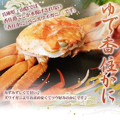 香住港水揚げの香住蟹を職人が浜茹でしてお届け!ゆで香住蟹2はいセット