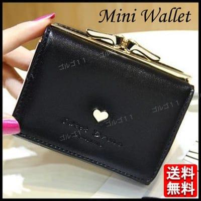 the latest 1e516 ac766 2つ折り財布 がま口財布 レディース ミニ財布 ブラック コイン ...