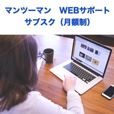 マンツーマンWEBサポート サブスク(月額制)