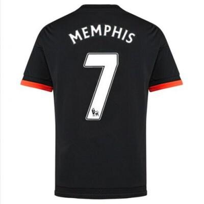 2016 マンチェスター ユナイテッド サッカー ユニフォーム アゥエイ カラー ブラック  背番号7