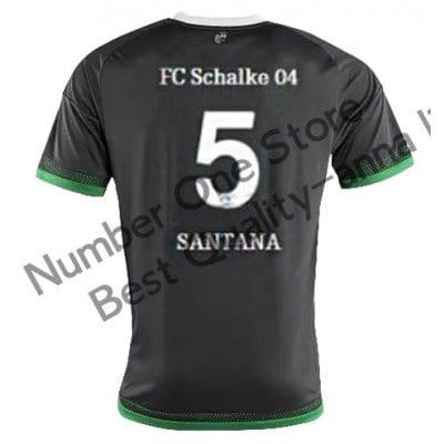 2016 シャルケ04 サッカー ユニフォーム サードカラー ブラック 背番号5