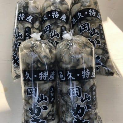 むき身牡蠣1キロ袋5ヶ入り《送料無料》