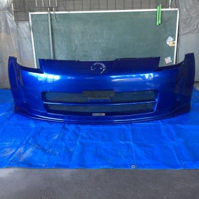 [I様 取り置き]フェアレディ  Z33 nismo フロントバンパー  カラー:アオ B17 補修前提