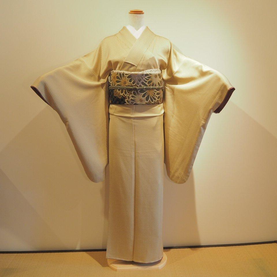レンタル着物一式 色無地(正絹)袷 RI-08のイメージその1