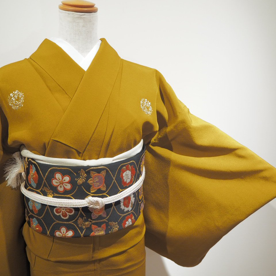 レンタル着物一式 色無地(正絹)袷 RI-05のイメージその2