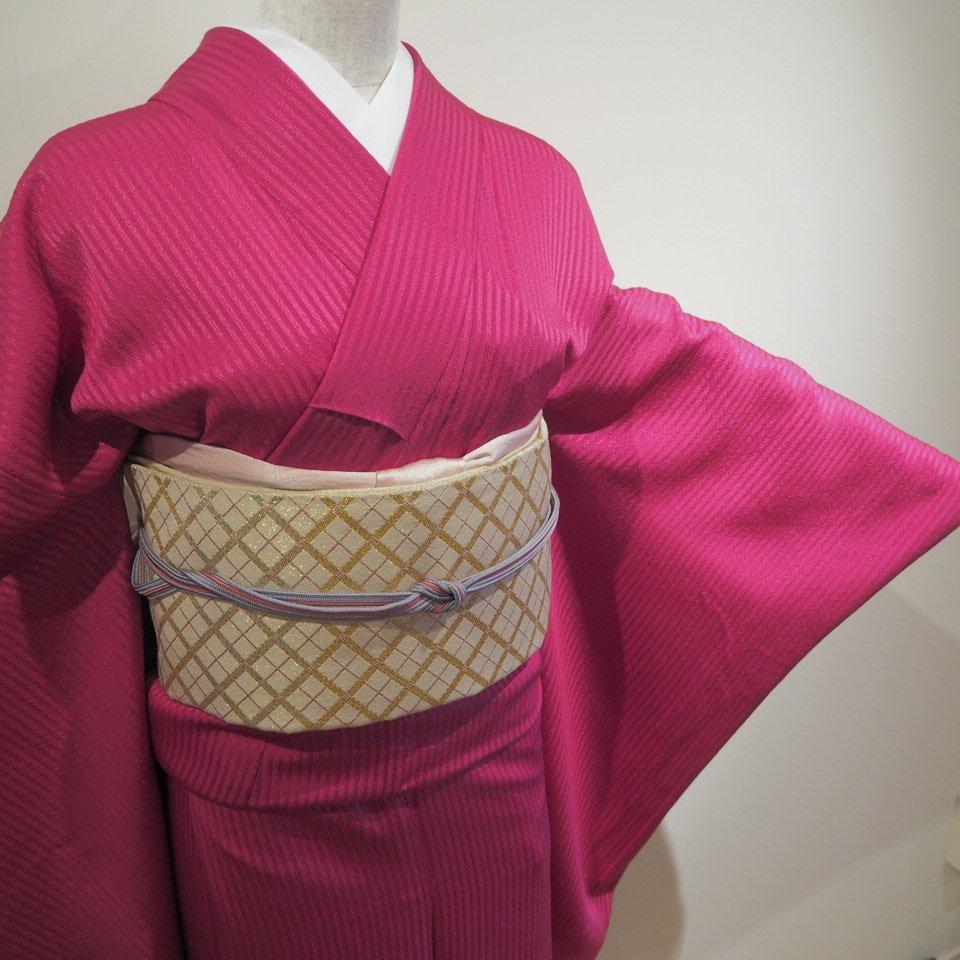 レンタル着物一式 色無地(正絹)袷 RI-03のイメージその2