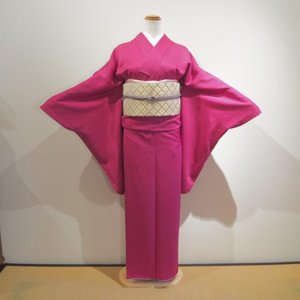 レンタル着物一式 色無地(正絹)袷 RI-03のイメージその1