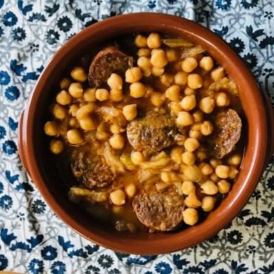 【クール便】イベリコ豚ソーセージで作るスペイン料理 豆3種セット