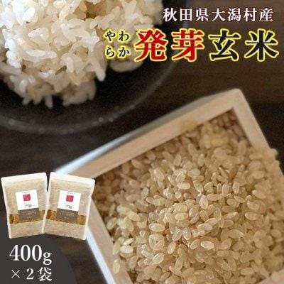 【送料無料】秋田県大潟村産・特別栽培米・発芽玄米400g×2袋セット