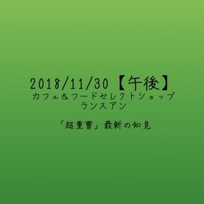 【2018/11/30午後】「超重曹」最新の知見