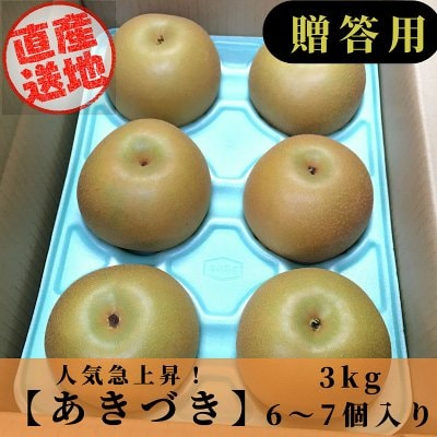 [予約商品]あきづき梨/3㎏/5~7個入り