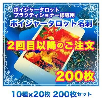 【2回目以降のご注文】ボイジャー名刺 200枚セット(10種類×20枚) ※送料無料|※修正なしの増刷に限ります