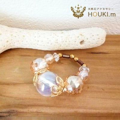 【受注生産】指輪(大)|天然石リング|水晶|HOUKI.m